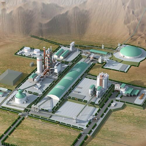 Cement Production Facility Landscape Design, Erbil