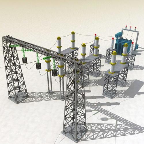 380kV Substation point cloud to Bim model